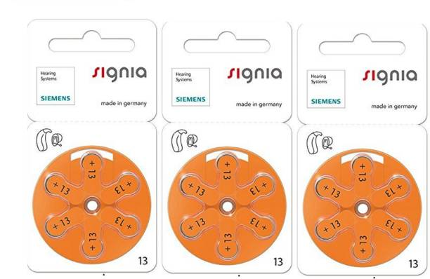 Signia Hearing Aid Battery Size 13, Pack of 18 Batteries HearingAidBattery-13no-3pack Stethoscope Case