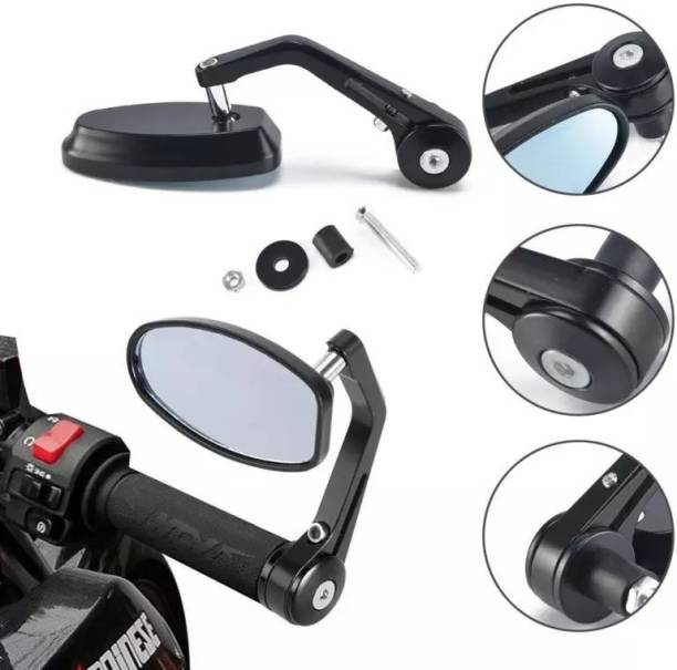 HI-TECH ACCESSORIES Manual Rear View Mirror For Universal For Bike Universal For Bike
