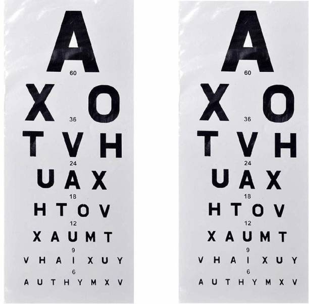 ASF UNIVERSAL (Set of 2 pcs) English Eye 20 Feet Distance Vision Test Chart