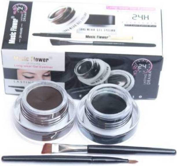 ads 2 in 1 Black & Brown Water Proof & Smudge Proof 24hrs Gel Eyeliner 7 g