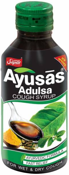 Sapat Adulsa syrup Ayurvedic Formula for Wet and Dry Cough - 100 ml ( Pack of 5 )