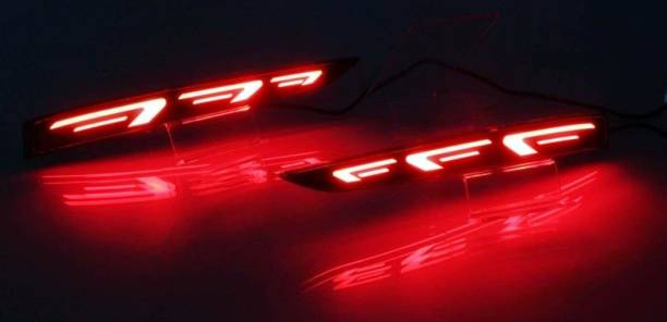 eliteauto Premium Car Reflector Led Brake Light for Bumper(Rear/Back) Drl New Design Car Reflector Light