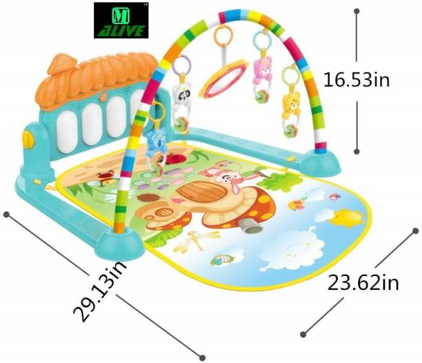 M-Alive World Kick & Play Musical Keyboard Mat Piano Baby Play Mat Gym & Fitness Rack