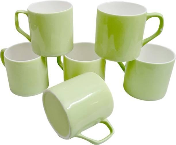 UPC Pack of 6 Bone China Set of 6 Coffee Mugs New Modern Design Fine Bone Ceramics Tableware, Premium Light Tea/Coffee Cups (Set of 6 Mugs in a Box)