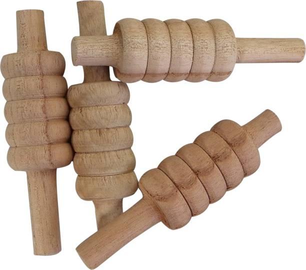 HRSGS Pack of 4 Wooden Cricket Bails Standard Bail (Pack of 4) Standard Bail