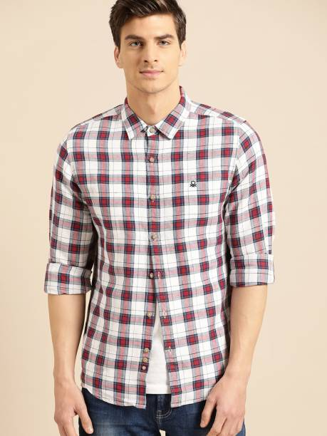 United Colors of Benetton Men Checkered Casual Multicolor Shirt