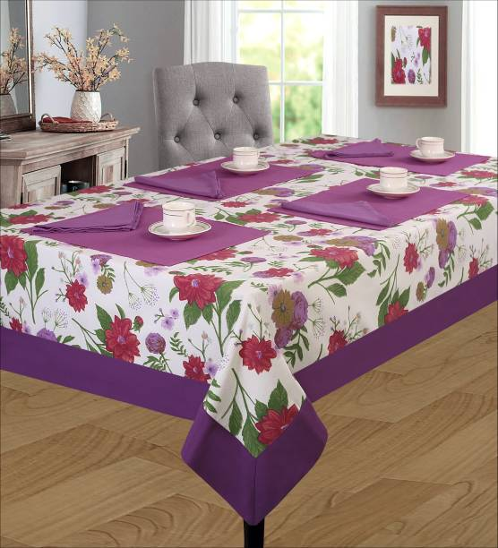 shades of life Floral 4 Seater Table Cover