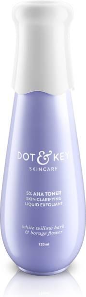 Dot & Key 5% AHA Toner Skin Clarifying Liquid Exfoliant Men & Women