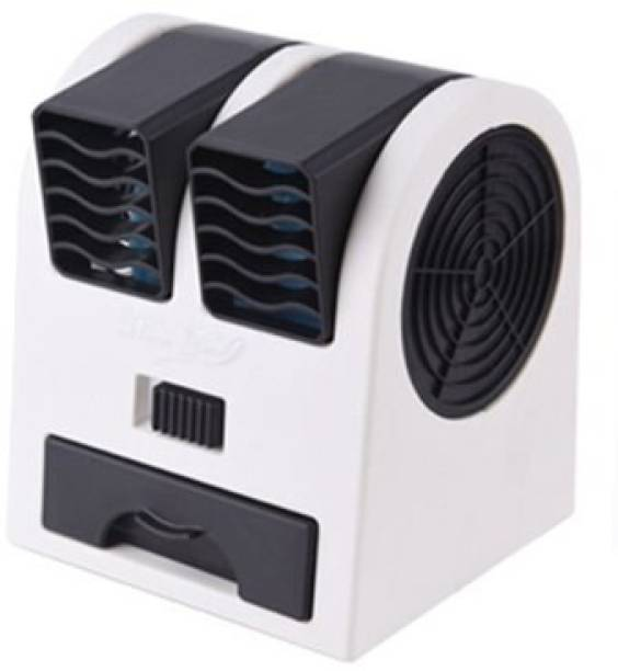 Wanzhow Mini Usb Cooler Usb Electric Mini Fan Desktop Adjustable Two Outlet Portable Air Cooler Mini Fan Aircon Adjustable Angle USB Battery Dual Air Cooler Mini USB Small Fan Cooling Desktop Dual Blade-less Air Conditioner Portable Mini USB Fragrance Air Cooling Cooler 00009 USB Fan, USB Air Freshener, USB Humidifier, Rechargeable Fan, USB Air Cooler, USB Air Purifier