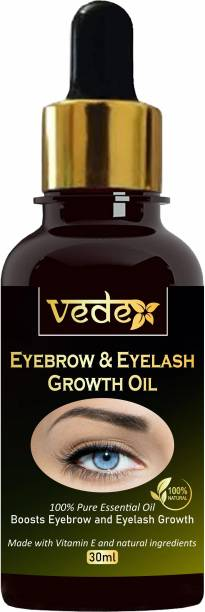 VEDEX Eyebrow & Eyelash Growth Oil For Women - Strength with 100% Pure Natural Ingredient 30 ml