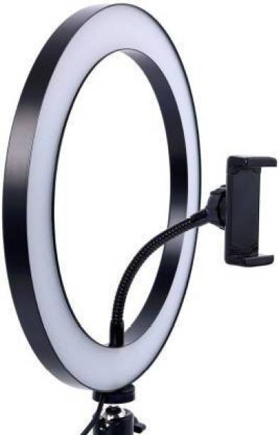 YOZO Video Ring Light for Photography, Video Shooting, Streaming, TIK Tok Compatible with Camera, Android and iOS Devices Ring Flash (Assorted -10 inch) Ring Flash