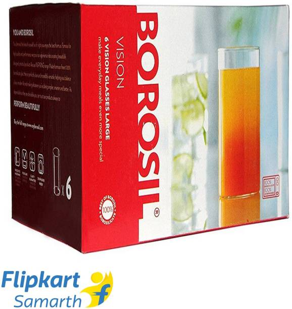 BOROSIL (Pack of 6) VISION 350 ML Glass Set