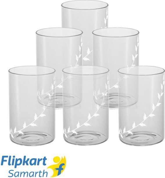 BOROSIL (Pack of 6) BVVIBLEAFWM Glass Set