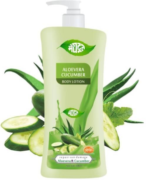 MEGHDOOT Aloevera Cucumber Body Lotion 500ml (Pack of 1)