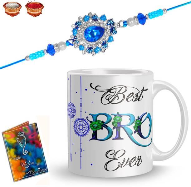 Earnam Designer Chawal Roli Pack, Rakhi, Mug  Set