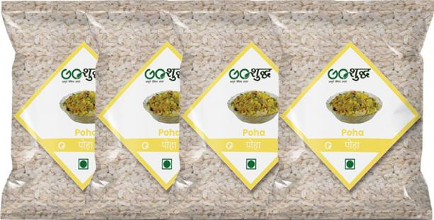 Goshudh Premium Quality Poha 500g each Pack Of 4 Poha (Long Grain, Raw)
