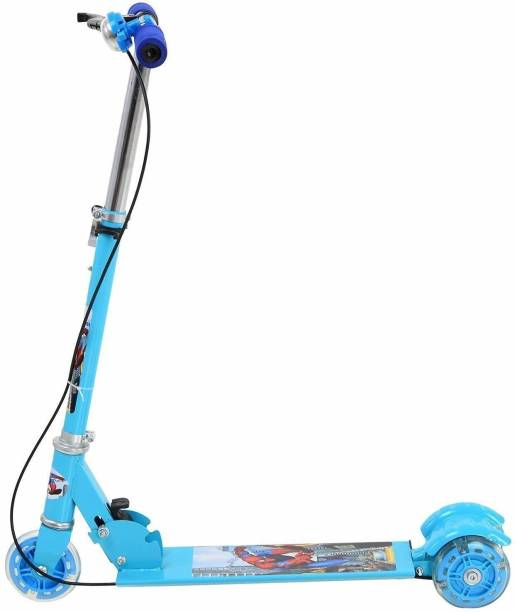 OSHO ENTERPRISE Basic Kids Ride On Leg Push Scooter for Boys and Girls (4 - 8 Years Old Kids) 3 Wheel Foldable Scooter Cycle with Height Adjustment for Boys and Girls (Blue) Kids Scooter