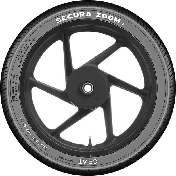 CEAT 101922 SECURA ZOOM F 47P 80/100-18 Front Tyre