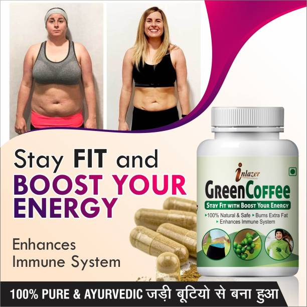 inlazer Green Coffee Herbal capsules For Control cholesterol 100% Pure Ayurvedic