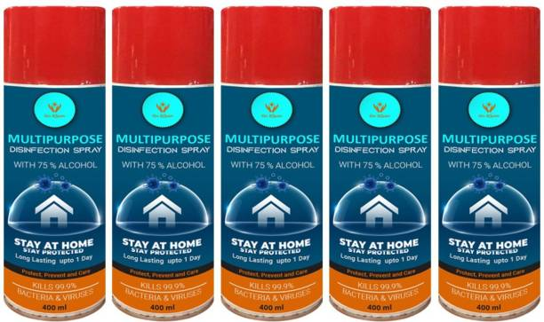 go klean All Purpose Disinfecting Spray - Home/Office/Car/Factory/Sofa/Curtains (Pack of 5)