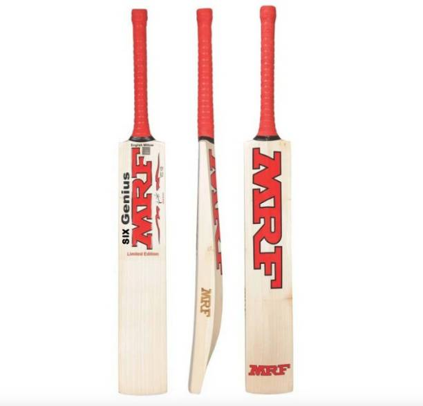 MRF six genius Kashmiri Willow Bat with Cover Kashmir Willow Cricket  Bat
