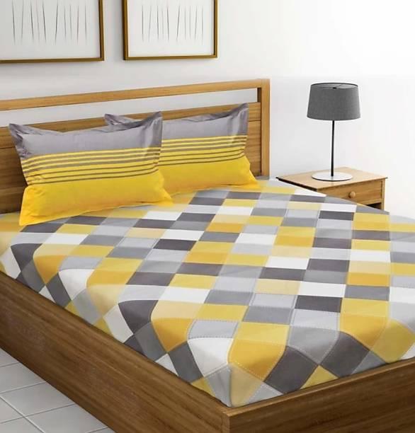 Jaipur Cotton 151 TC Cotton Double Geometric Bedsheet