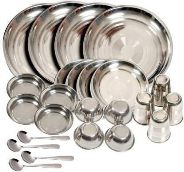 Vedant Pack of 24 Steel Dinner Set