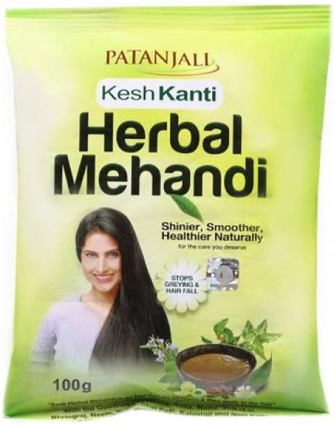 PATANJALI Kesh Kanti Herbal Mehandi (Pack - 4) Natural Mehendi