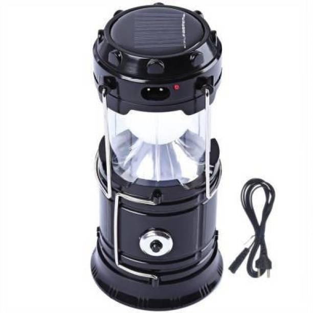 BERRIN LED Solar Emergency Light Lantern, USB Mobile Charging 2 Power Source Solar, Lithium Battery Multicolor Plastic Table Lantern