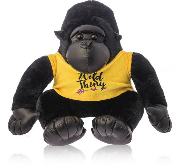 Dimpy Stuff Sitting gorilla W/T-Shirt  - 40 cm