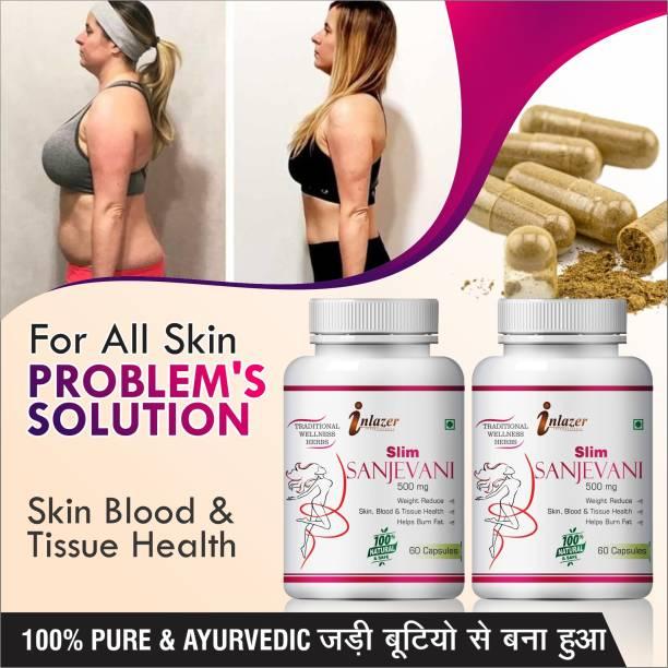 inlazer Slim sanjevani herbal capsules for extra body fat burner 100% Pure Ayurvedic
