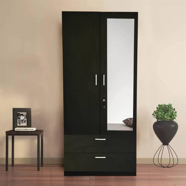 Barewether Engineered Wood 2 Door Wardrobe