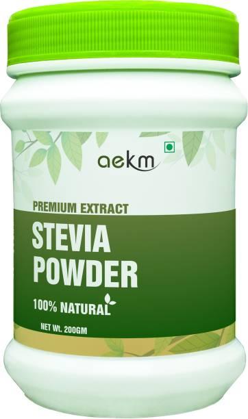 Aekm Stevia Sugar Free White Powder, Zero Calorie Sweetner Sweetener