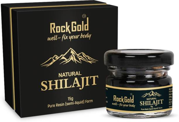 Rock Gold Pure Ayurvedic Shilajit/Shilajeet Resin Supports Strength, Stamina And Energy For Men & Women
