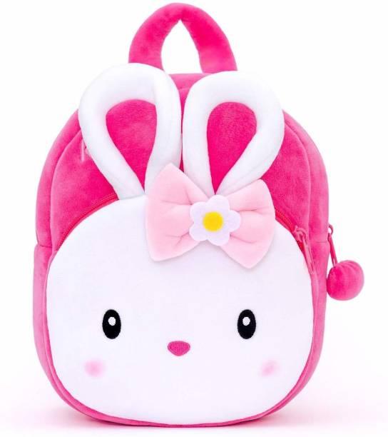 Funtoos children,'s school bag embroidery , soft velvet , double zip soft material Plush Bag