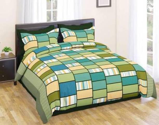CRAFTWELL 144 TC Microfiber Double Geometric Bedsheet