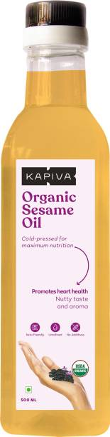 Kapiva Organic Sesame Oil (Promotes Heart Health) - 500 Ml Sesame Oil Plastic Bottle