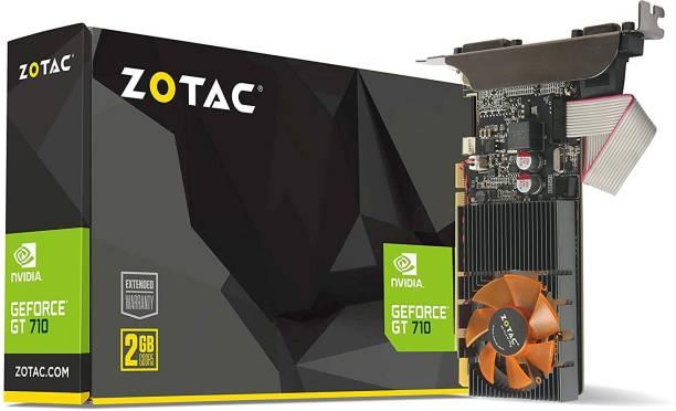 ZOTAC NVIDIA GeForce GT 710 2GB DDR3 FanSink Graphics Card with GeForce Experience 2 GB DDR3 Graphics Card