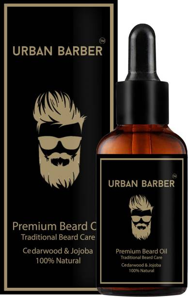Urban Barber Premium 100% Natural Beard Growth Oil - (Cedarwood and Jojoba) Hair Oil (30 ml) - No SLS, No Paraben Hair Oil