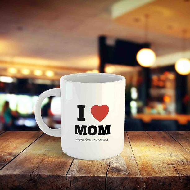 """THE MEHRA CREATION Mother'Day Love Gift Coffee - """"I Love You Mom More Than Chocolate""""Unique Gift for Mother, Mom, Mama, Grandma Printed Ceramic Coffee Mug"""