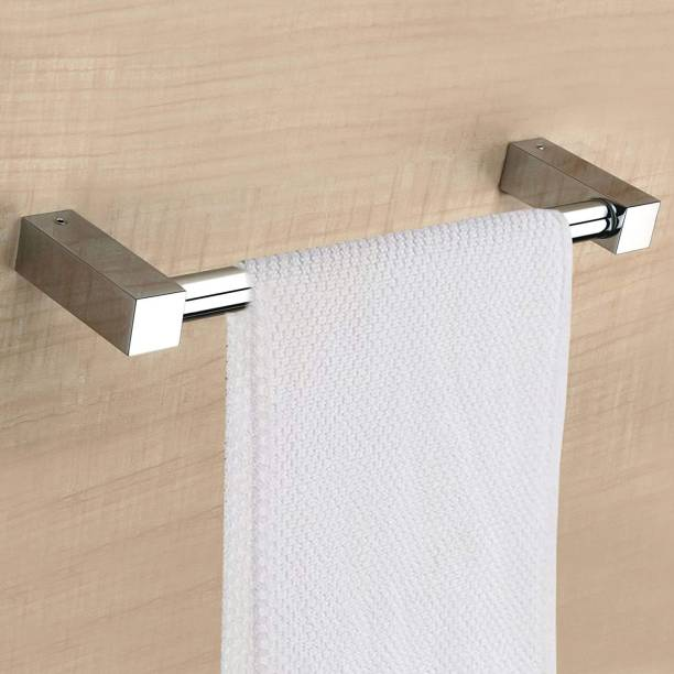 Plantex Stainless Steel Towel Hanger for Bathroom/Towel Rod/Bar/Bathroom Accessories(2 Feet - Chrome) 24 inch 1 Bar Towel Rod