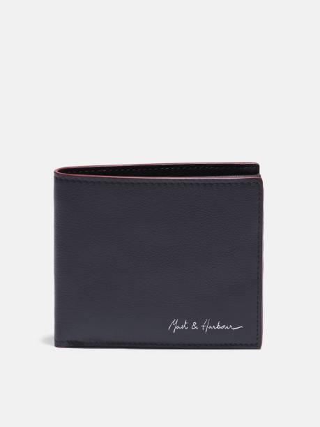 MAST & HARBOUR Men Blue Genuine Leather Wallet