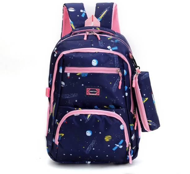 Tinytot SB119_02 School Backpack College Bag Travel Bag with Pencil Pouch 2nd Standard onward Waterproof School Bag