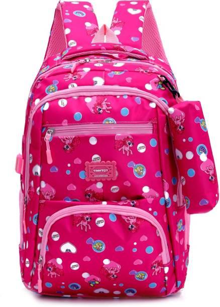 Tinytot SB118_03 School Backpack College Bag Travel Bag with Pencil Pouch 2nd Standard onward Waterproof School Bag