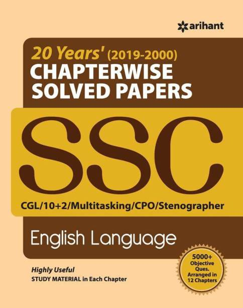 Ssc Chapterwise Solved Papers English Language 2020