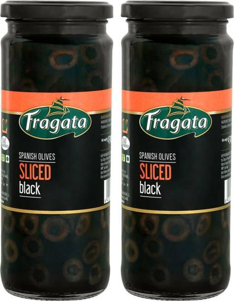 Fragata Olives Sliced Black 430g (Ideal for Pizzas and Salads) Pack of 2 Olives