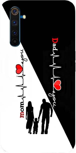 Raydenhy Back Cover for Realme 6 Printed Mom Dad Love, Mom&Dad Love