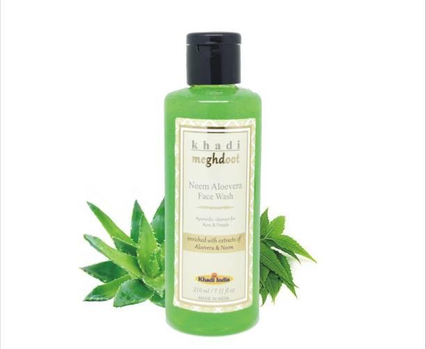 KHADI MEGHDOOT Neem Aloevera Facewash 210ml (Pack of 2) Face Wash