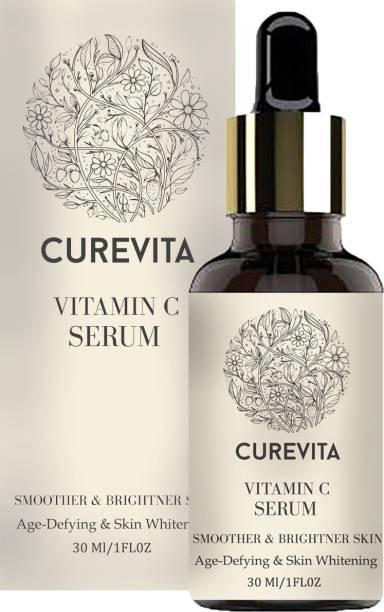 Curevita Vitamin C Serum Skin Brightening,Anti Aging,Spotless Skin,Sun Protection,Under Eye Circles,Facial Serum