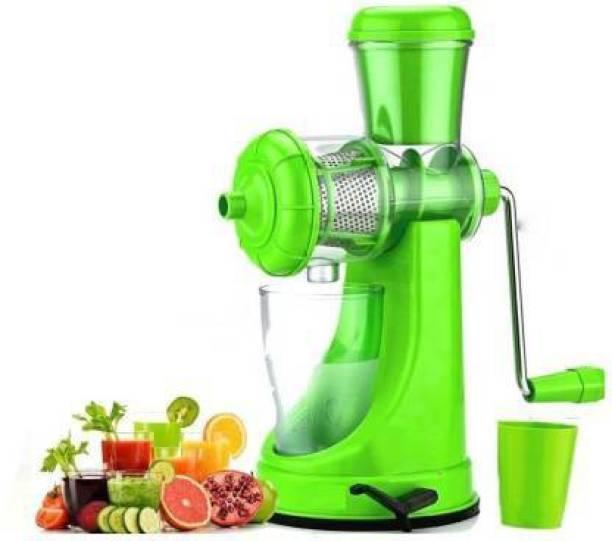 yash fashion st 1 Fruit & Vegetable Manual Steel Handle Polypropylene Hand Juicer 0 Juicer (1 Jar, Green, clear)